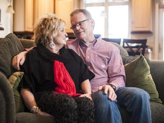 Sheryl and Chuck Hopkins met in church in grade school