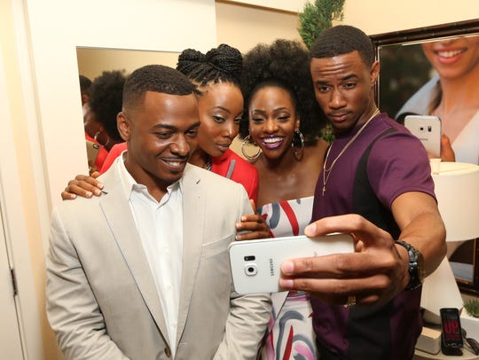 Actors RonReaco Lee, left, Erica Ash, Teyonah Parris,