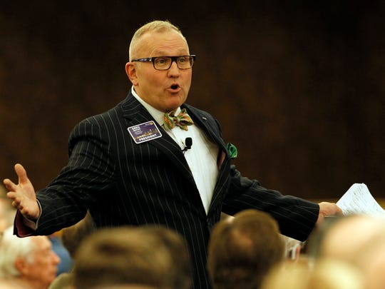 Rotary Club of Louisville president Greg Braun addresses