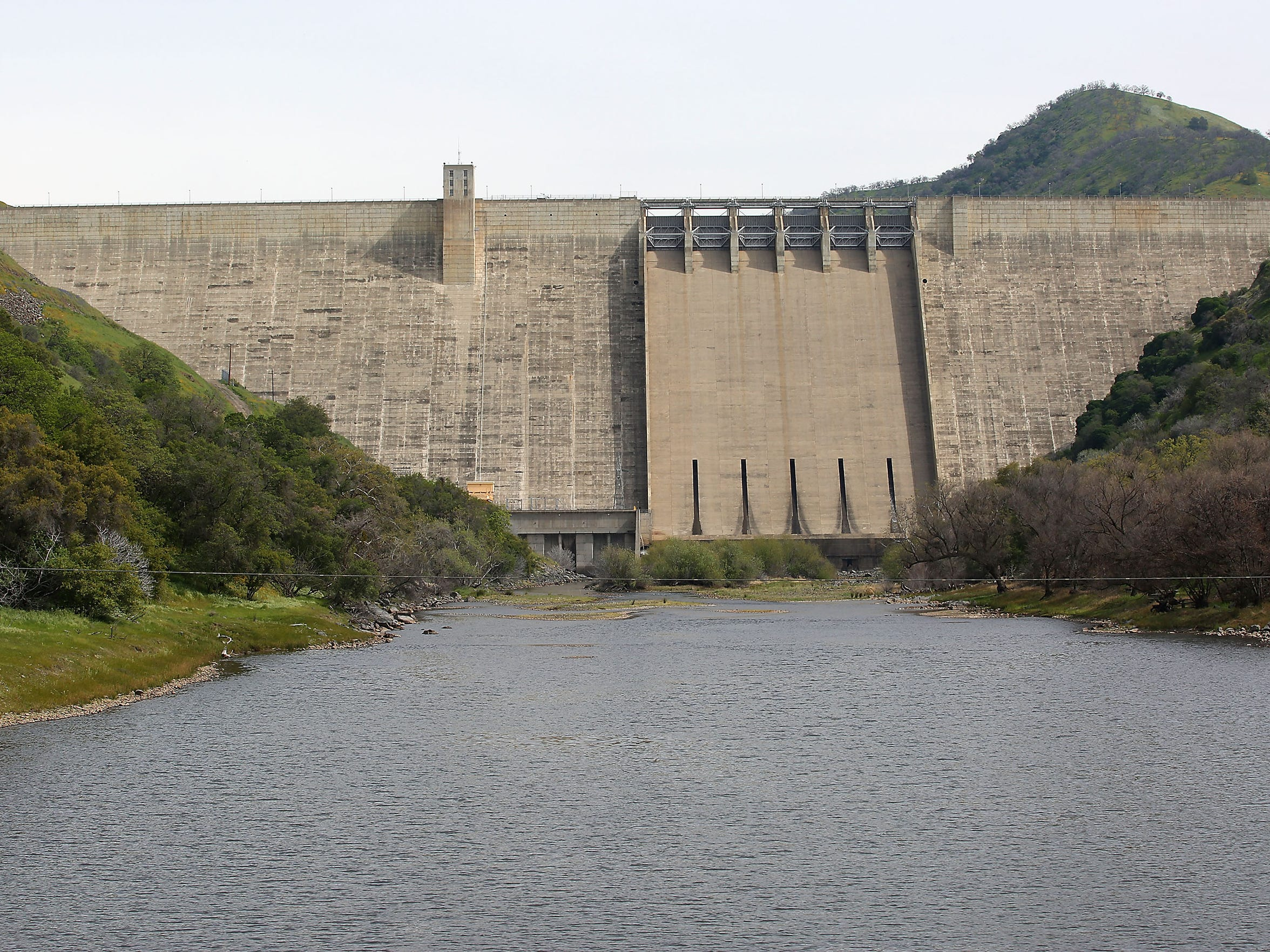 The Kings River flows out of Pine Flat Dam near Fresno.