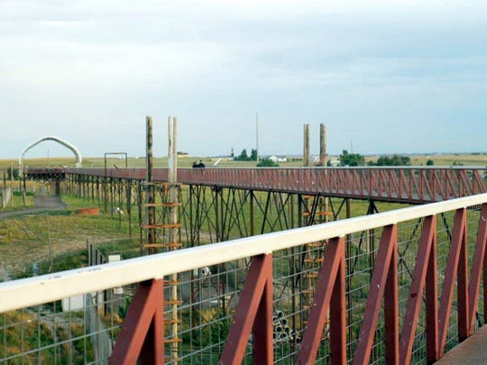 A mile of elevated walkway cuts across The Wild Animal
