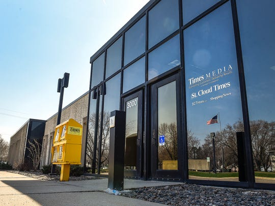 The St. Cloud Times building shown Tuesday, May 1,