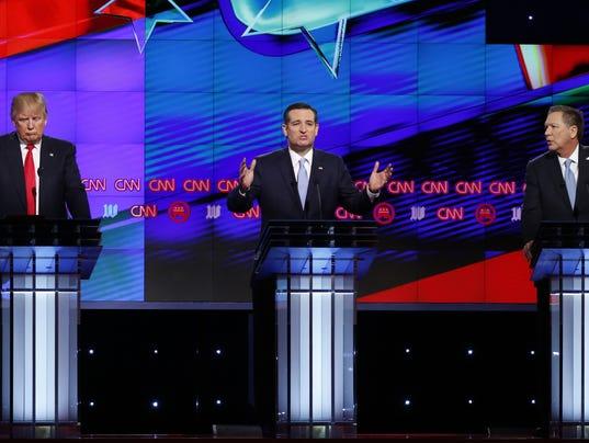 Ted Cruz, Donald Trump, John Kasich