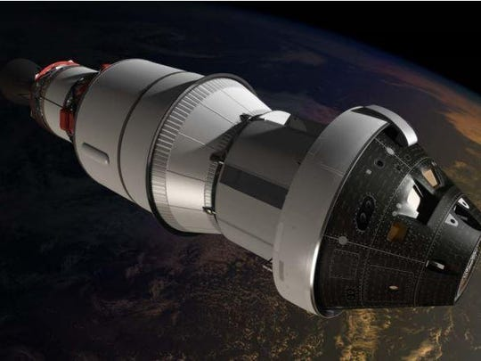 The Orion Multi-Purpose Crew Vehicle is designed to carry up to four astronauts to never-before-visited destinations, including an asteroid and Mars.