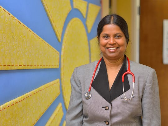 Dr. Vatsala Bhaskar, pediatrician at CentraState Medical Center in Freehold.