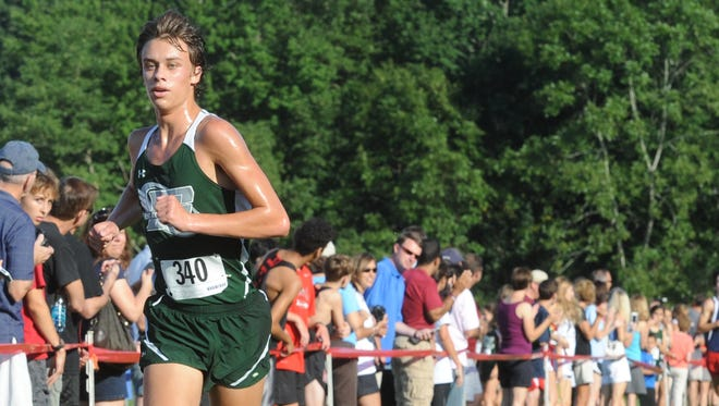 East Henderson senior Tanis Baldwin won the Western North Carolina Cross Country Carnival's boys championship race for the second consecutive year Saturday in Hendersonville.