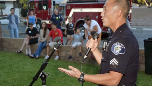 National Night Out in a California town in 2014.