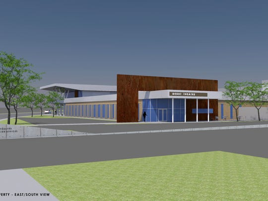 A rendering of what the entrance to Debut Theatre might look like when it renovates part of 1212 Riverside Ave.