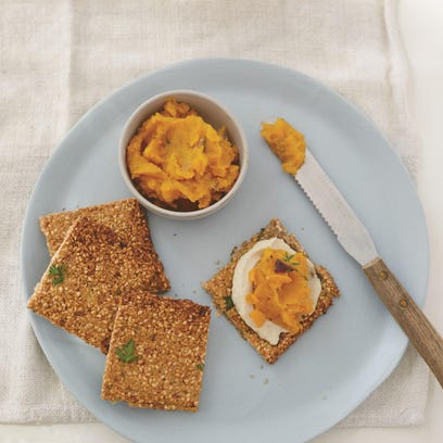 These maple squash tartines are a perfect start to