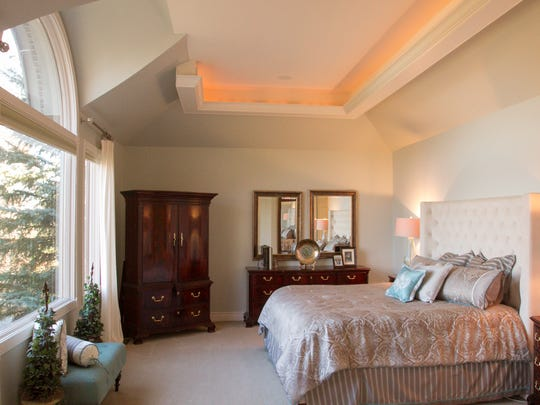 The Britts' master bedroom, shown Wednesday, Nov. 29,