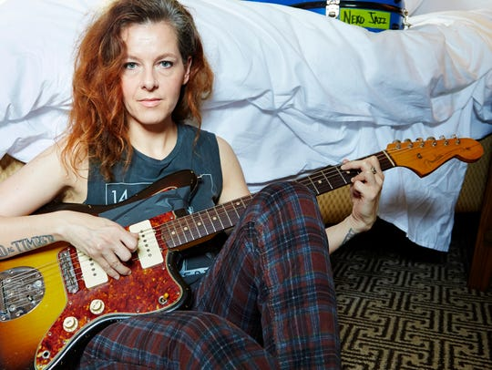 Neko Case poses at a hotel in New York.