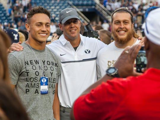 Former Southern Utah players Miles Killebrew (left)