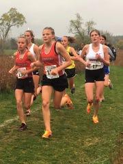 Pinckney's Vivi Eddings (left) has the fastest girls'