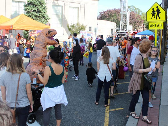 The corner of Bellevue and Central Avenues was packed on Saturday afternoon for all the Halloween fun.