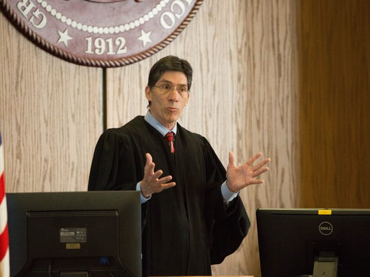 Judge Manuel Arrieta speaks about the new  Veterans Treatment Court, a diversion court for veterans charged with non-violent felonies on Wednesday May 23, 2018. Arrieta will be the lead judge for the court.