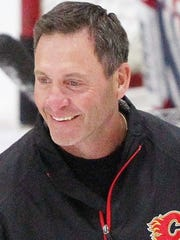 Clint Malarchuk while coaching with Columbus