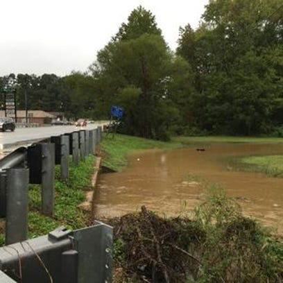 Water rose near Butler Road in Mauldin over the weekend,