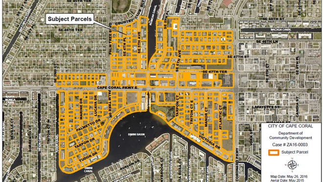 The Bimini Basin zoning district would affect 289 parcels across 133.6 acres in southeast Cape Coral.