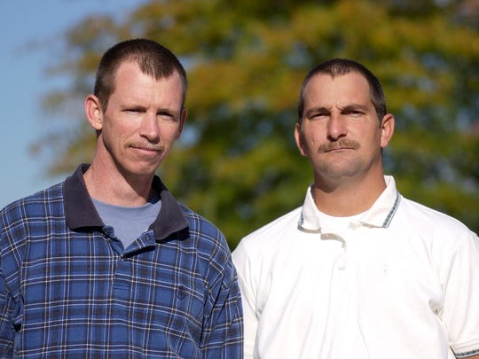 David Hammack, left, and John Collins were jailed for nearly two years in the death of Mary Judd.