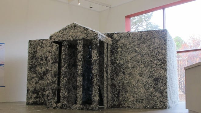 "Provincetown artist Jay Critchley created a ""Whiteness House - tarred and feathered' installation in fall 2017 at the Santa Fe Art Institute. He plans to create a similar walk-in-sized replica of The White House for a 10-day art installation on Commercial Street later this month and is seeking artists for continual programming there."