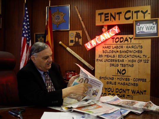 La oficina de Joe Arpaio lucía como la de un sheriff