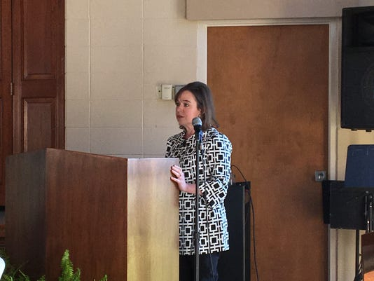 CEO Caroline Cascio speaks at The Wellspring's annual meeting
