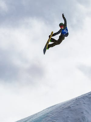 Norway's Stale Sandbech flies through the air during the men's snowboard slopestyle finals on the third day of the Aspen 2016 X Games on Jan. 30  at Buttermilk Mountain in Aspen, Colo.