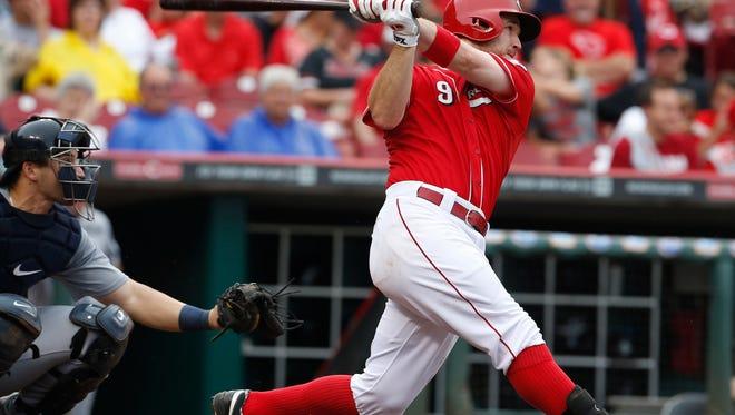 Reds third baseman Jack Hannahan in July of 2013.