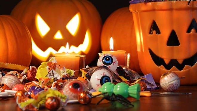 Pumpkins, Jack o lanterns and candy are all part of October's Halloween festivities.
