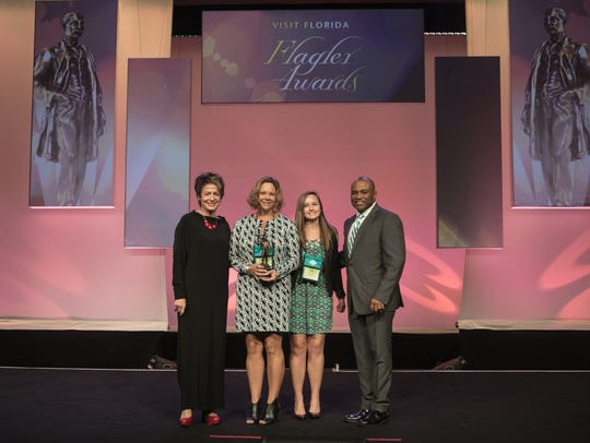 From left, Maryann Ferenc, chair, VISIT FLORIDA, and