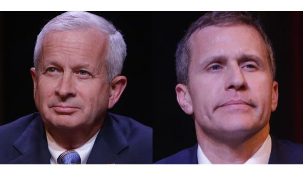 John Brunner and Eric Greitens fiercely competed to be Missouri's governor before Greitens won the August primary.