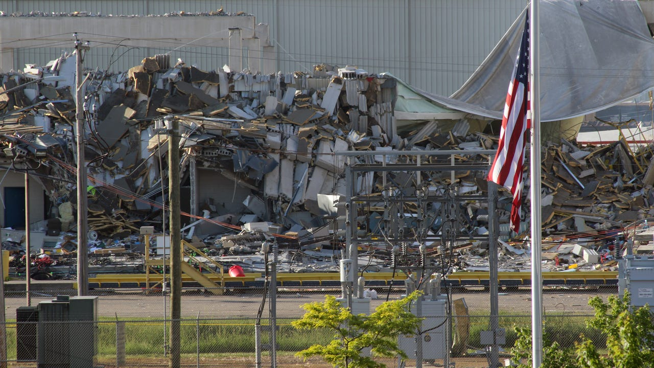 A May 31 mill plant explosion in Cambria results in four dead, about a dozen injured.
