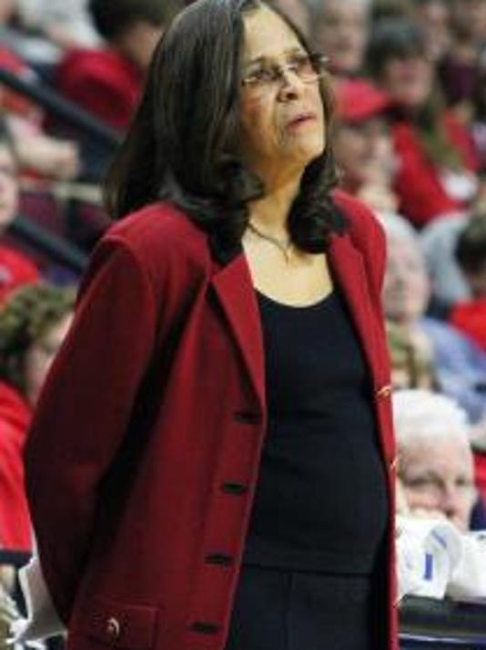 Rutgers women's basketball coach C. Vivian Stringer earned 169 Big Ten conference wins at Iowa and now has seven at Rutgers. (Mark Sullivan/Staff photographer)