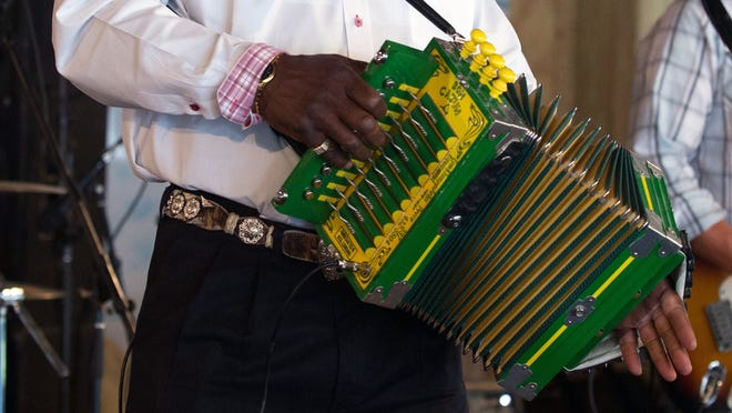 Leroy Thomas and the Zydeco Roadrunners plan to throw down some sweet zydeco at Cafe 329's grand opening Saturday morning. photo: David Simpson Leroy Thomas brings his Zydeco Roadrunners to Vermilionville Wednesday night.