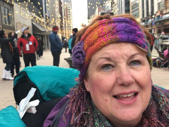 Cindy Sweesy, 59, of Roseville,watched America's Thanksgiving