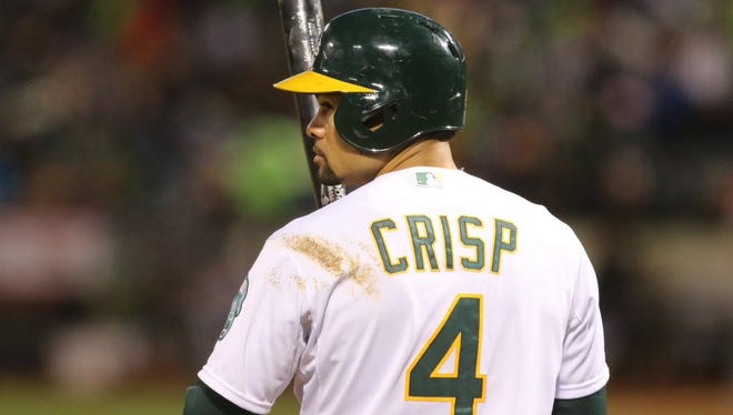 The Oakland Athletics placed outfielder Coco Crisp on the DL for a cervical strain.
