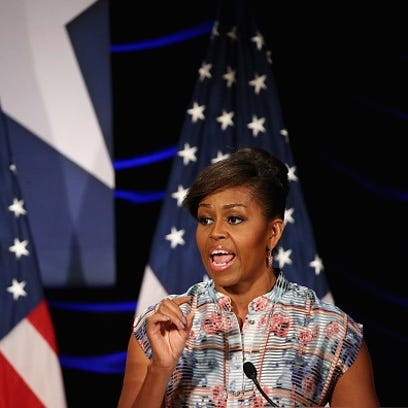 U.S. first lady Michelle delivers remarks May 20, 2015