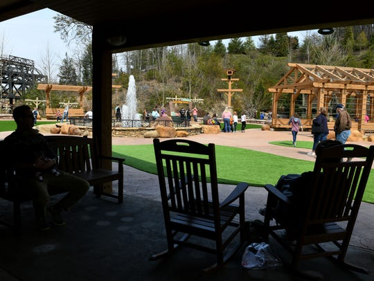 The new Plaza at Wilderness Pass is open where park