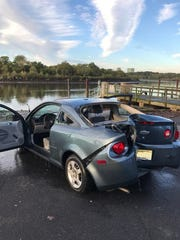 This 2006 Chevrolet Cavalier was found in the Raritan River in Edison early Tuesday.
