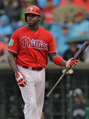 Ryan Howard will start the season in a platoon at first base with Darin Ruf.