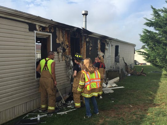 A Saturday morning fire at 8 E. Pine St., Bethel Township,