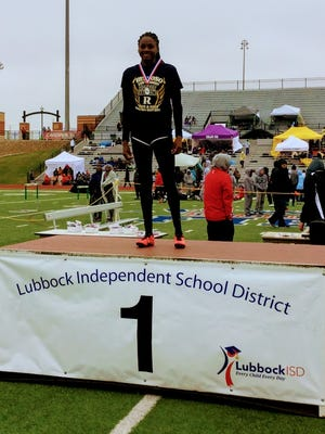Shalom Keller had the the fastest time of any division in the 100 meter dash at the Lubbock Invitational over the weekend.
