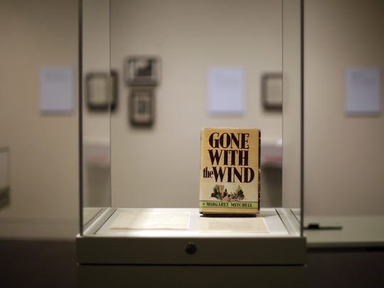 "A copy of ""Gone With the Wind"" and hundreds of other items are on display at the University of Texas' Harry Ransom Center in Austin, Texas."
