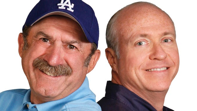 Bob Kevoian, left, and Tom Griswold debuted on Indianapolis radio on March 7, 1983.
