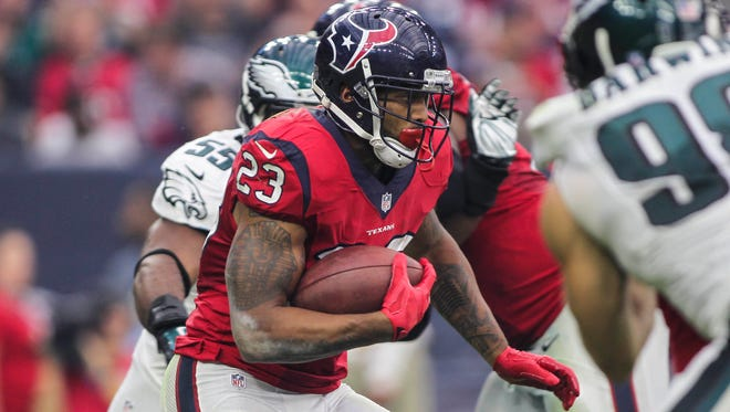 RB Arian Foster had four 1,000-yard rushing seasons for the Texans.
