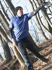 Chad Chubb, owner of Chubb Disc Golf, participates in this past Saturday's Ice Bowl.