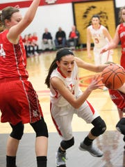SJCC's Adrienne Wehring scored 17 points Saturday.