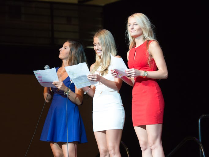 The hostesses of the KD Shakedown: Taylor, Ashley and Kyra.