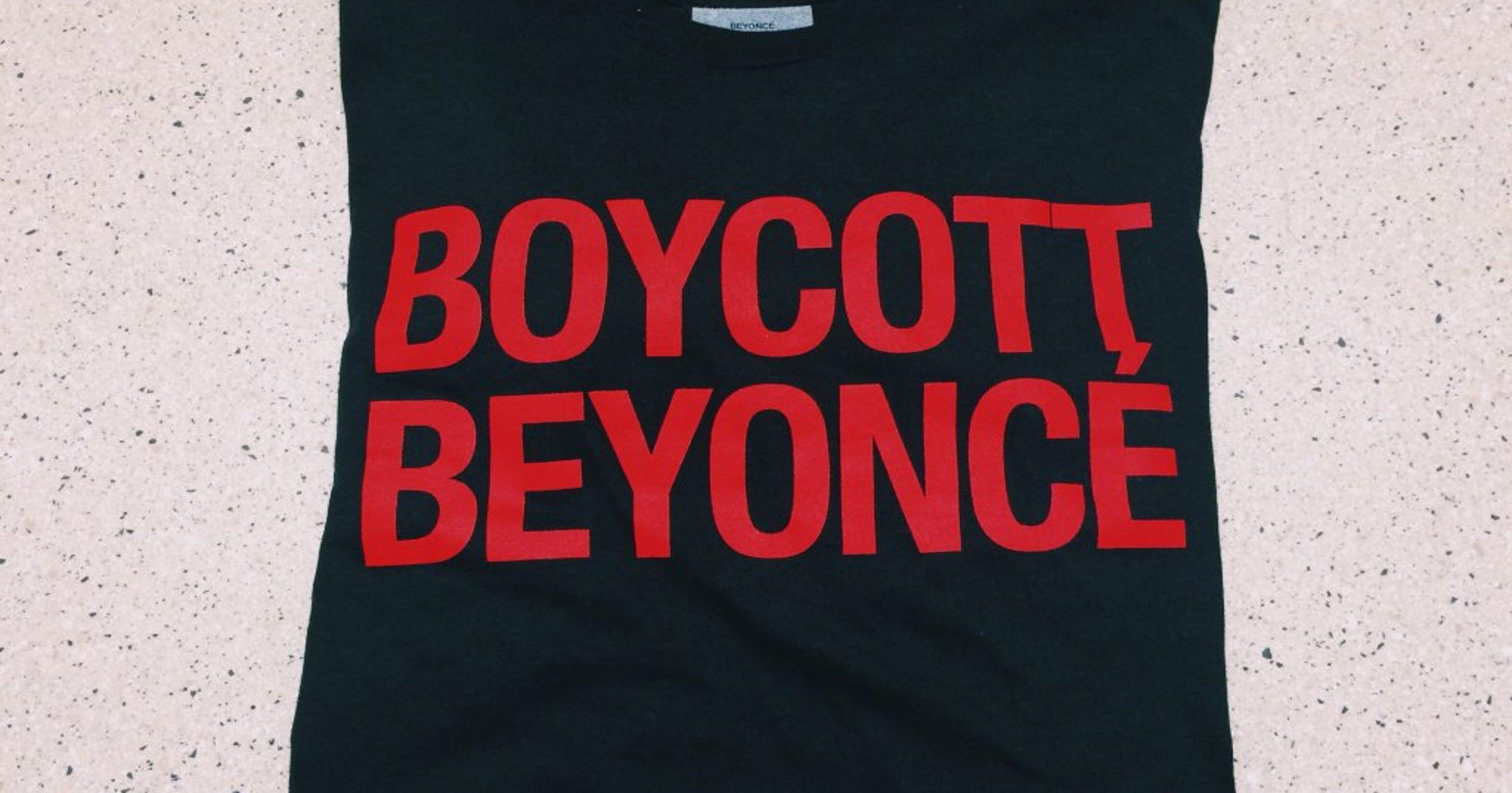 Resultado de imagem para boycott beyonce shirt
