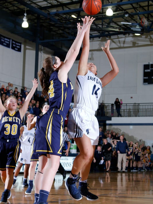 DeWitt vs East Lansing District Final Girls Basketball